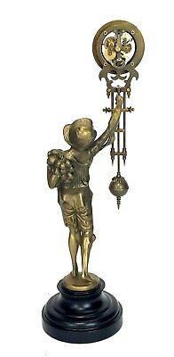 German Style Junghans Onion Boy Swinging Swinger Clock w 8 Day Skeleton Movement 4
