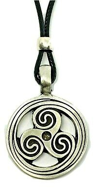 Triskelion Triskele BDSM Symbol Pendant Secret Fetish Kink Bead Cord Necklace 3