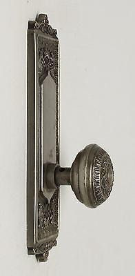 Single Ornate Knob With Matching Plate 6