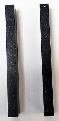 "RAHN PRECISION BLACK GRANITE METROLOGY PARALLELS  9 X 1.5 x 0.75"" 2"