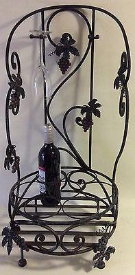 Decorative 7 Bottle/4 Glass Steel Wine Rack 3