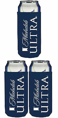 3 New REAL DEAL Michelob Ultra SLIM CAN Beer Koozie Coozie Coolie Bud Light 2