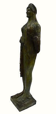 Caryatid Caryatis Kore bronze Ancient Greek aged Great statue sculpture artifact 4