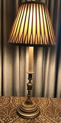 Antique Gilt Bronze Neoclassical French Candlestick Lamp 9