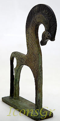 Ancient Greek Bronze Museum Statue Replica Of A Geometric Era Horse Collectable 2