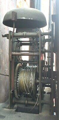 Antique Georgian Oak  Mahogany Longcase Grandfather Clock S Brill Birmingham 8