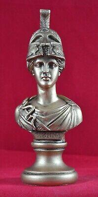 Athena bust greek statue wisdom gold patina goddess NEW Free Shipping -Tracking 2