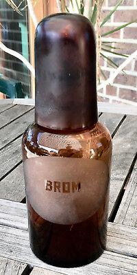 Apotheker -  sehr schöne Glaskappenflasche - BROM  -sehr selten - Gruseldeko 5