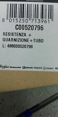 Resistenza Lavastoviglie Indesit Ariston  Corpo Pompa C00520796 Originale 3