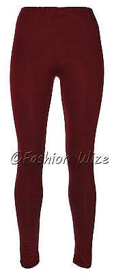 Ages 2-13 (20+ Colours) Girls Plain Full Length Legging Brown Black Grey White 2