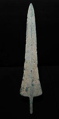 """Zurqieh -  Over 3000 Years Old Bronze Sword Blade- 1200 B.c , 13 3/4 """" 2"""