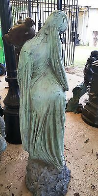 "Classical Cast Bronze Sculpture Fountain Rebecca at the Well  Lady with Urn 56""H 4"