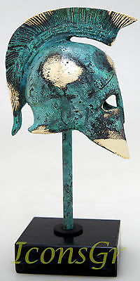 Ancient Greek Bronze Museum Replica Vintage Spartan Officer Battle Helmet 300 3
