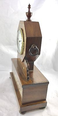 Antique Inlaid Brevete Rosewood Mantel Bracket Clock 6