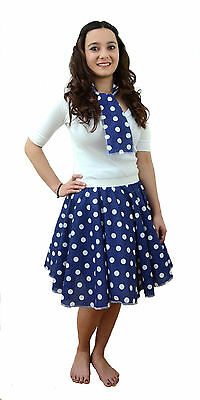 bd180d83f621 1 of 12 Plus Size Circle Polka Dot Rock N Roll Skirt & Scarf Set 1950s 60s  Many Colours