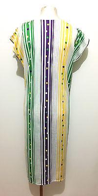 CULT VINTAGE '80 Abito Vestito Donna Cotone Pois Woman Cotton Dress Sz.L - 46