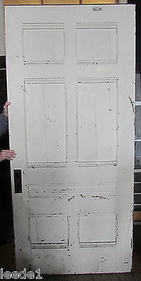 "Late 1800's Yellow Pine 6 Panel 7' 5"" x 41-3/4"" x 1-3/4 Architectural Salvage 2"
