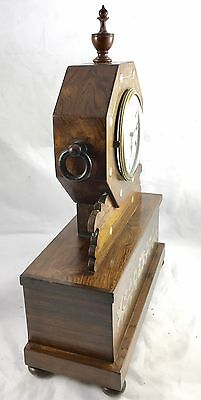 Antique Inlaid Brevete Rosewood Mantel Bracket Clock 2