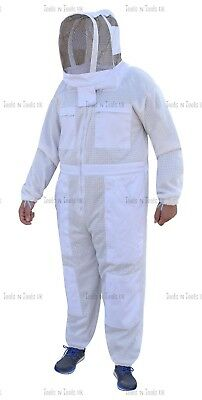 Pro Three Layers Mesh Ultra Beekeeping Suit Bee Suit Ventilated Cool Air Medium