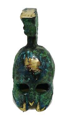 Ancient Greek Bronze Museum Replica Vintage Sparta Helmet mini