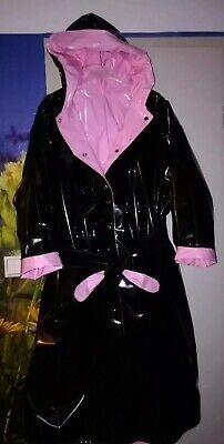 ZWEISEITLICH 2in1 PVC Regencape Lack Gummimantel Raincoat Regenmantel Vintage 3