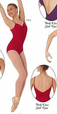 NWT Body Wrappers P360 PrincessSeam Cami Leotard pinch front Ladies XSmll AMETHY