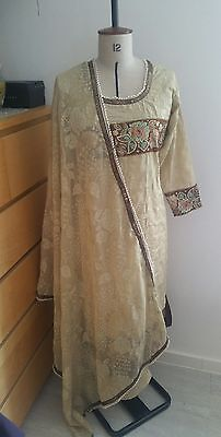 Eid pakistani designer anarkali shalwar kameez saree sari lengha suit medium 2