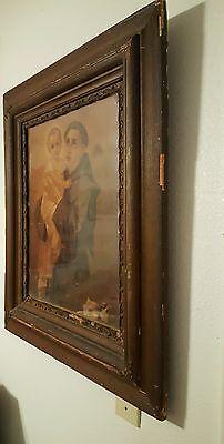 ANTIQUE Saint Anthony Padua circa 1880-90's picture.  SAN ANTONIO City's 300th 4