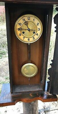 Beautiful Antique Vintage Wooden Wall Clock * 3
