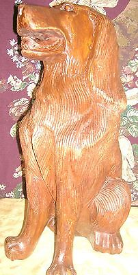 Antique Beautifully Carved and Detailed Mahogany Fireplace Dogs (2) 8