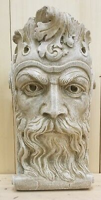 Bearded Man Wall Corbel Bracket Shelf Architectural Accent Home Decor 3