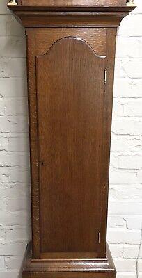 ~ Antique Brass Dial OAK Grandfather Longcase Clock GOLDSMITHS REGENT ST LONDON 3
