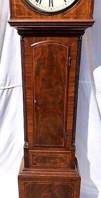 ~ Antique Inlaid Mahogany Longcase Grandfather Library Clock : DARLING EDINBURGH 7