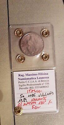 Moneta Rara 50 Lire 1989  Fdc Variante Asse Ruotato Di 180° Gradi Filisina 2