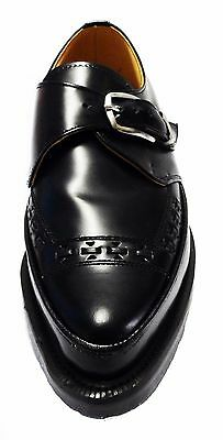 George Cox Classic Leather Monk Buckle Creepers