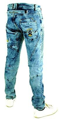 CIPO /& Baxx Yukon Hommes Jeans Denim Straight Cut Bleu c-0894a toutes les taille NEUF