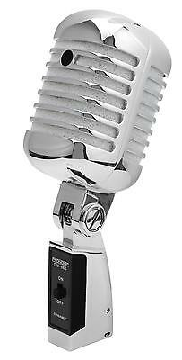 DJ PA Vintage Gesangs Mikrofon Retro Mikro Live Mic Micro Ständer Kabel Set SL 2