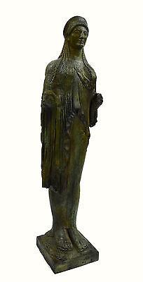 Caryatid Caryatis Kore bronze Ancient Greek aged Great statue sculpture artifact 3