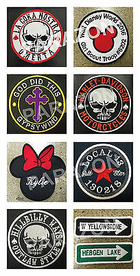 """Custom Embroidered Name Tag Sew on Patch Motorcycle Biker Patches 4"""" x 1"""" (B) 7"""