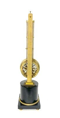 Mystery Pinwheel Upside Down Skeleton Swinging Clock with Marble Base 4