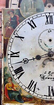 Antique Georgian Oak  Mahogany Longcase Grandfather Clock S Brill Birmingham 12