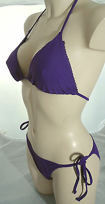 20x Janet Reger Designer Bikini in Purple Triangle Tie-side Restposten Joblot