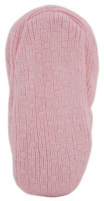 RJM Girls Soft Knitted Cat Slipper Socks with Grippy Soles 11