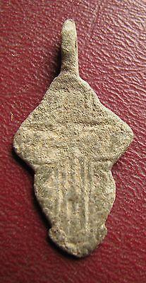 Antique Artifact > 18th-19th C Bronze Russian Orthodox Baptism Cross J15-2 3