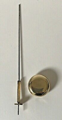 Antique Brass and Lead Filled Pendulum Rod And Bob - Combined Length 27.9cm 4
