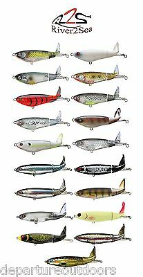 "River2Sea Whopper Plopper *90* Topwater Prop Bait Lure 3 1/2"" - Hooks Included!"
