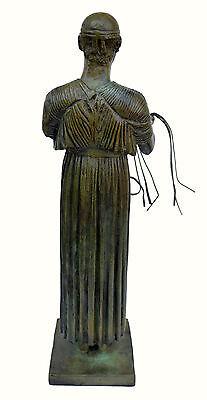 Charioteer Bronze statue of Delphi Ancient Greek reproduction sculpture artifact 6
