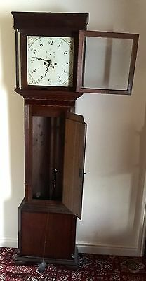 Antique Oak & Mahogany inlaid Longcase Grandfather Clock C Johnson CONGLETON 5