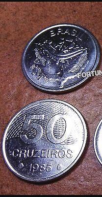 BRAZIL UNC SET OF 8 COINS 1 5 10 20 50 CRUZEIROS 1 5 10 CRUZADOS 1986 1987 1988