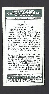 Player - Derby And Grand National Winners - #45 Sprig 2